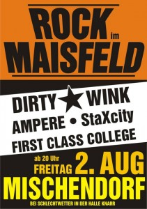Flyer Rock im Maisfeld